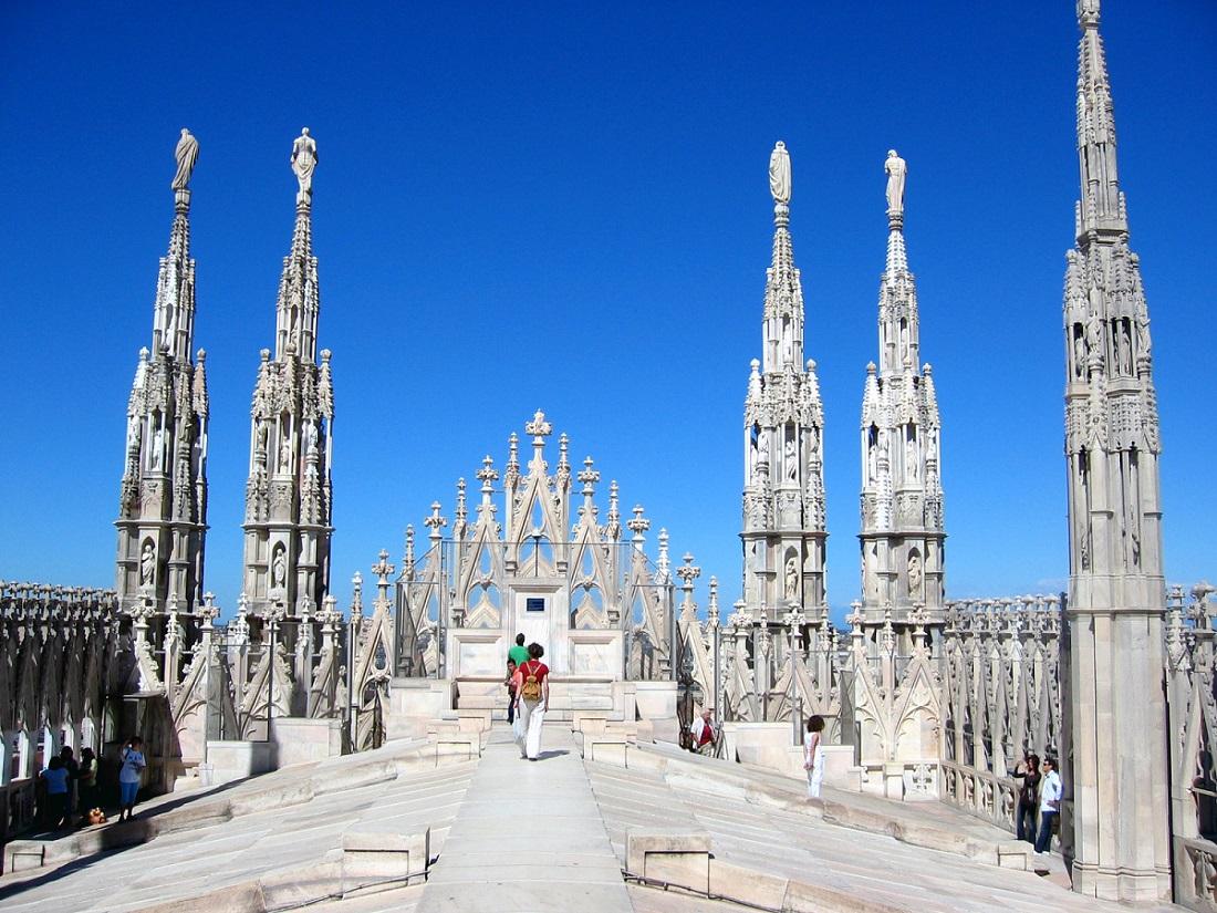 Plimbare pe acoperişul Domului din Milano