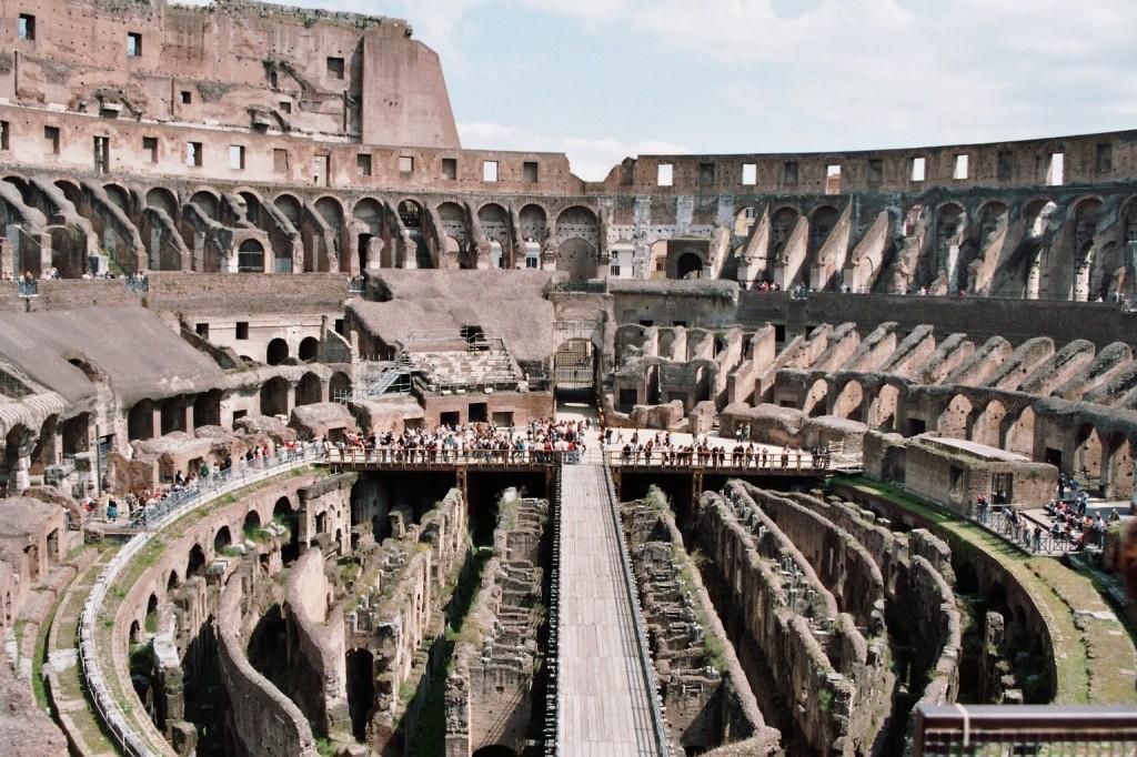 Colosseum altă vedere din interior