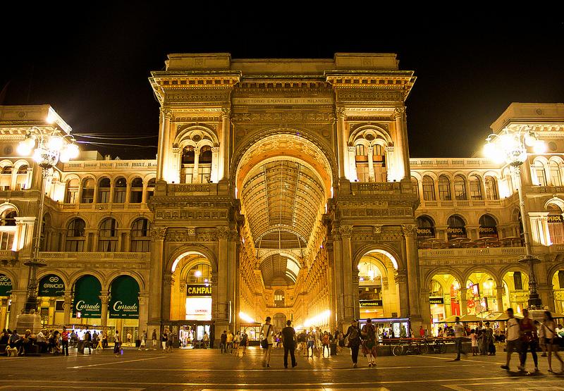 Galleria Vittorio Emanuelle, Milano, cel mai vechi mall din lume