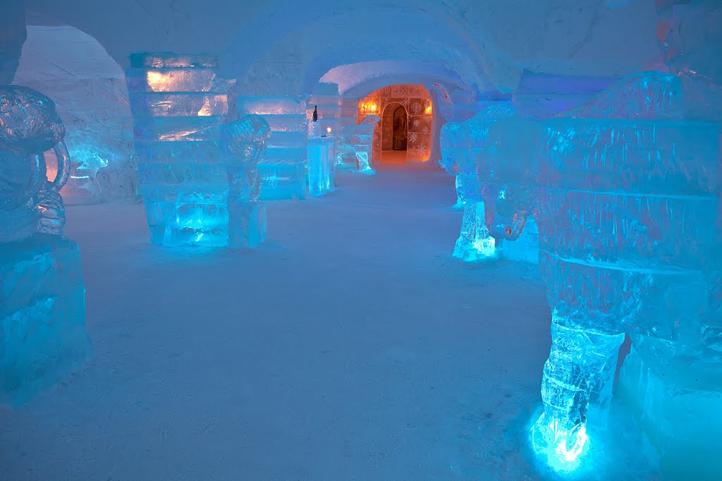 Interior din Sorrisniva Igloo Hotel, Norway