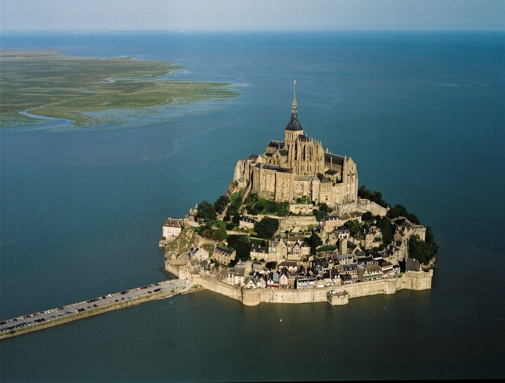 Muntele Saint Michel, vedere aeriană