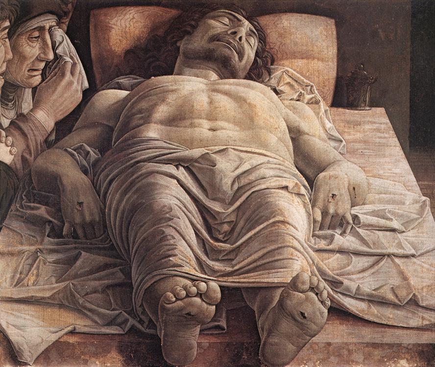 Plângerile lui Hristos, lucrare realizată de către Andrea Mantegna, expusă în Pinacoteca di Brera, Milano