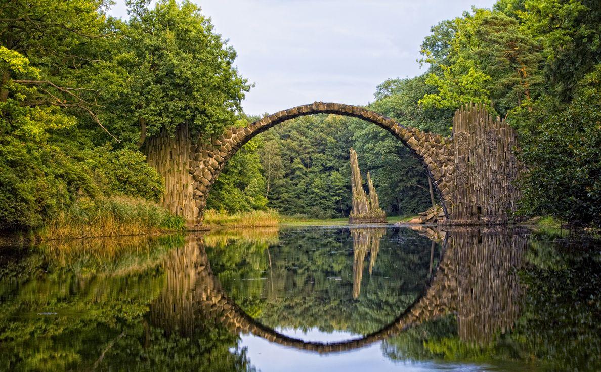 Podul Kromlau, arcul de cerc perfect