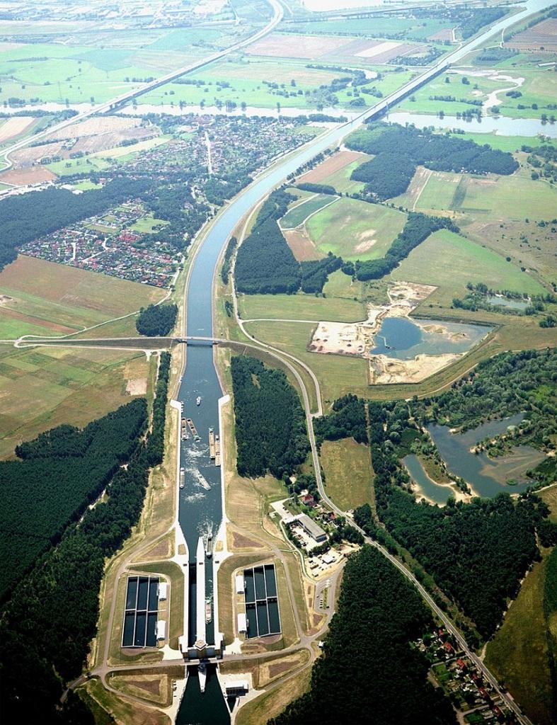 Podul de apă Magdeburg Ecluzele