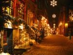 Quebec City în apropierea Crăciunului