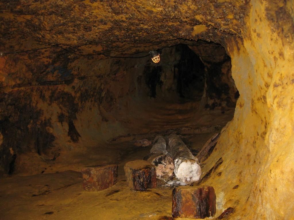 Galerie minieră la Roșia Montană