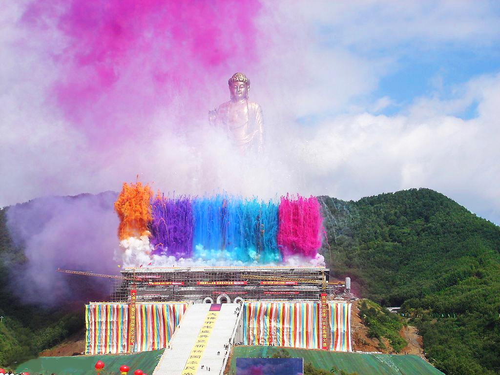 Templul Izvorului Buddha zi festivă