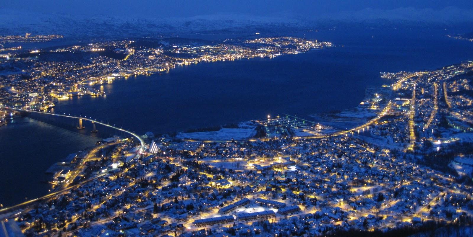Tromso noaptea
