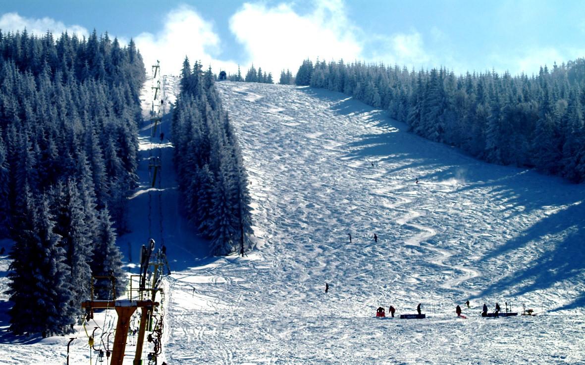 Pârtie de ski, Munţii Bucegi