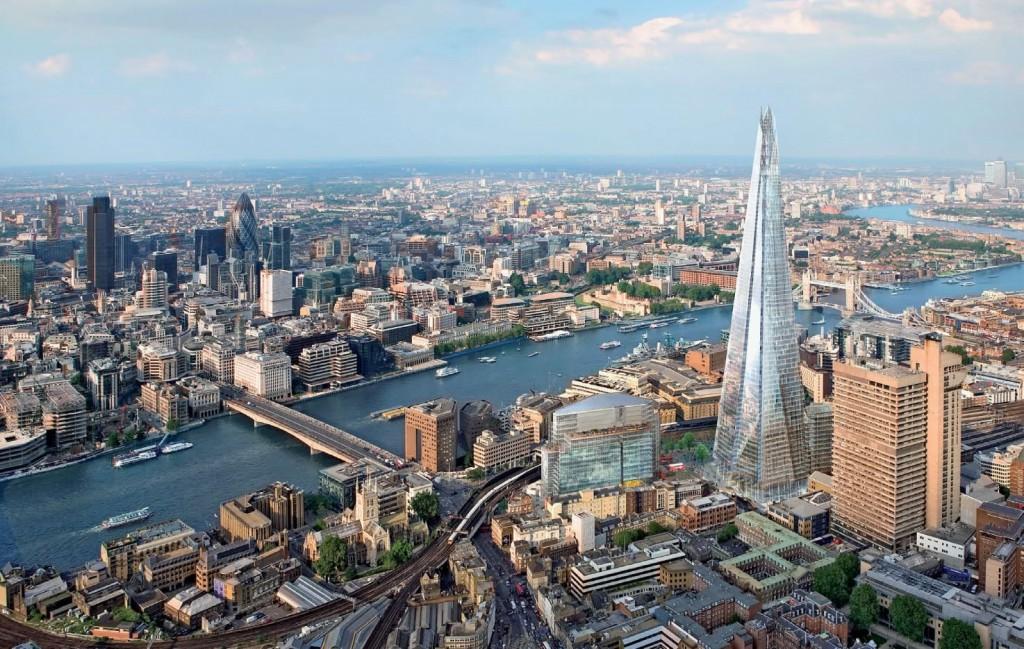 Vedere din the Shard, Londra de la 300 de metri înălțime