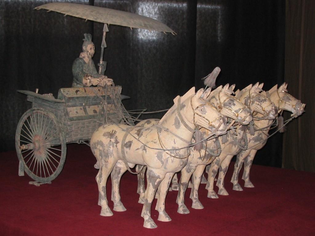 Armata de Teracotă, car tras de cai