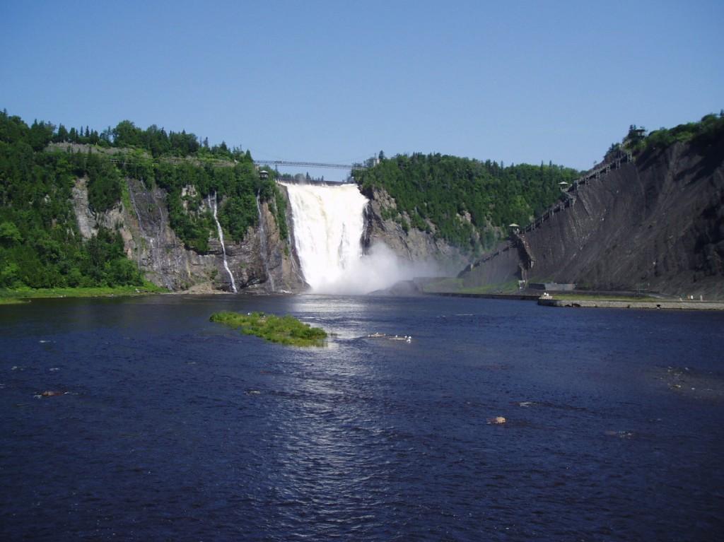 Canada-cascada-Montmorency