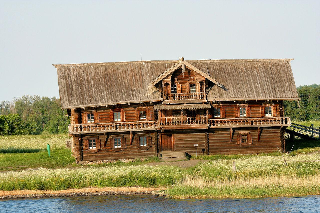 Casă din lemn din Kizhi, Rusia