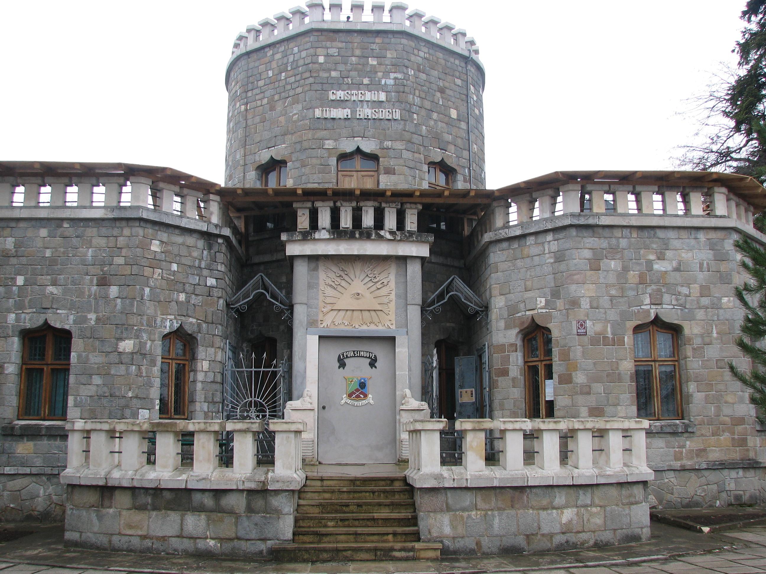 Castelul Juliei Hasdeu, vedere din fata