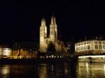 Catedrala Grossmunster din Zurich, noaptea