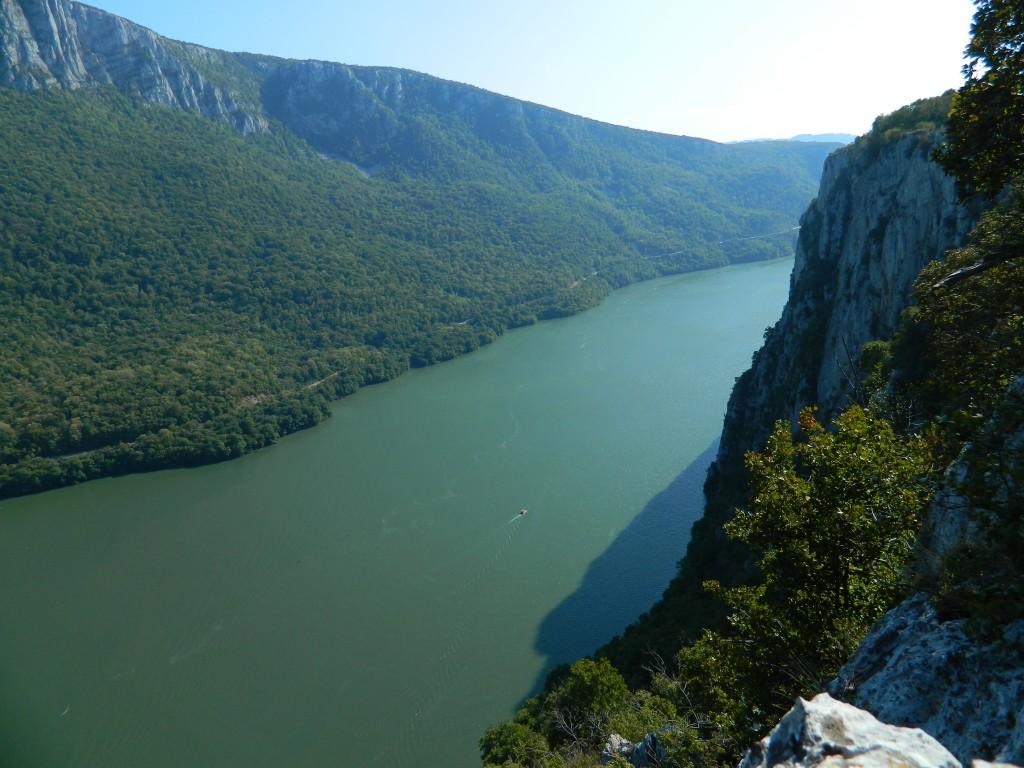 Cazanele Dunării, privire de sus