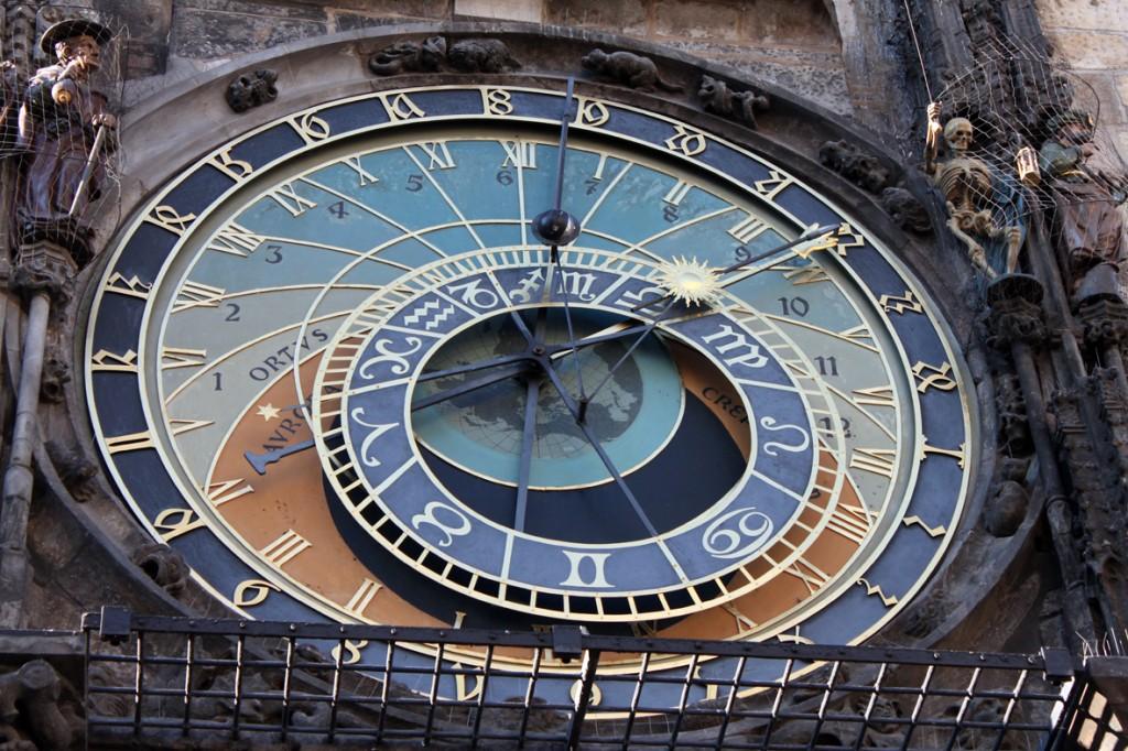 Ceasul Astronomic din Praga și figurinele din lateralul său