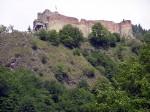 Cetatea Poenari, vedere din vale