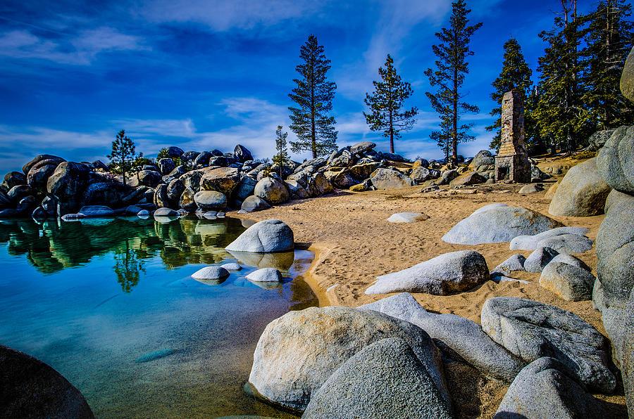 Chimney Beach, Lacul Tahoe, Sierra Nevada
