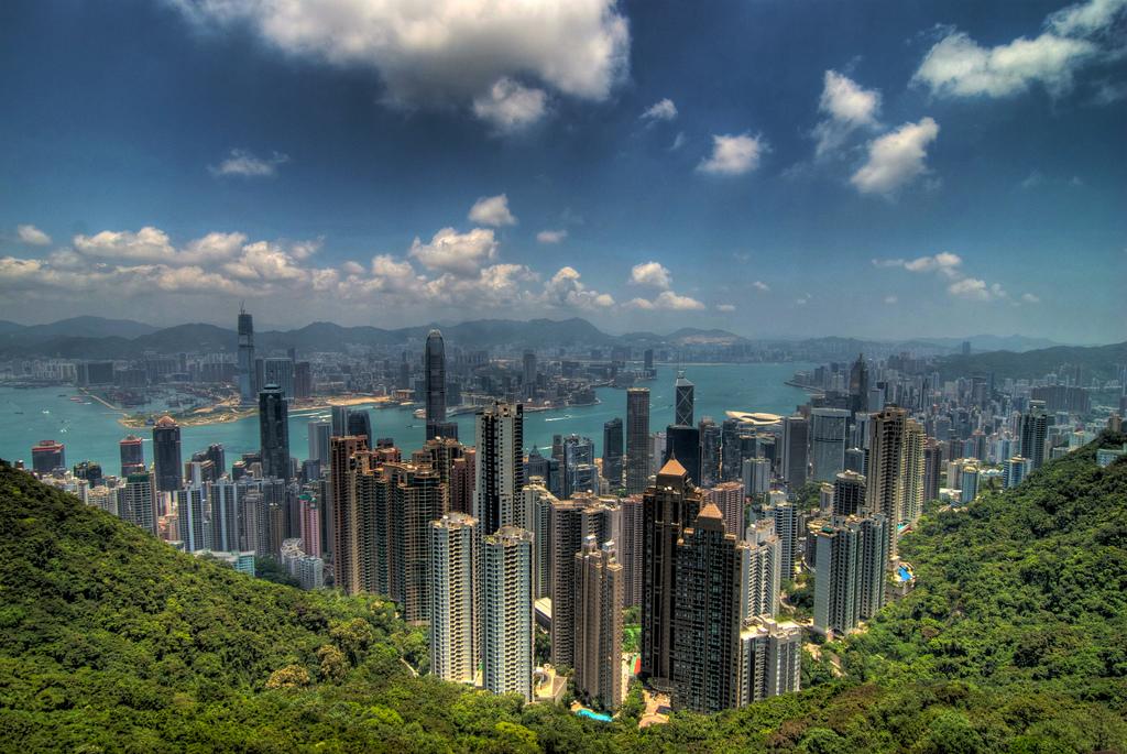 De pe Platoul Victoria Hong Kongul arată de-a dreptul spectaculos