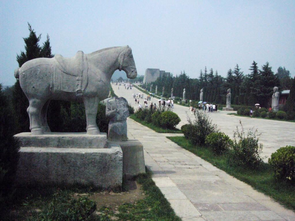 Detaliu în cadrul unui ansamblu funerar imperial din Xian