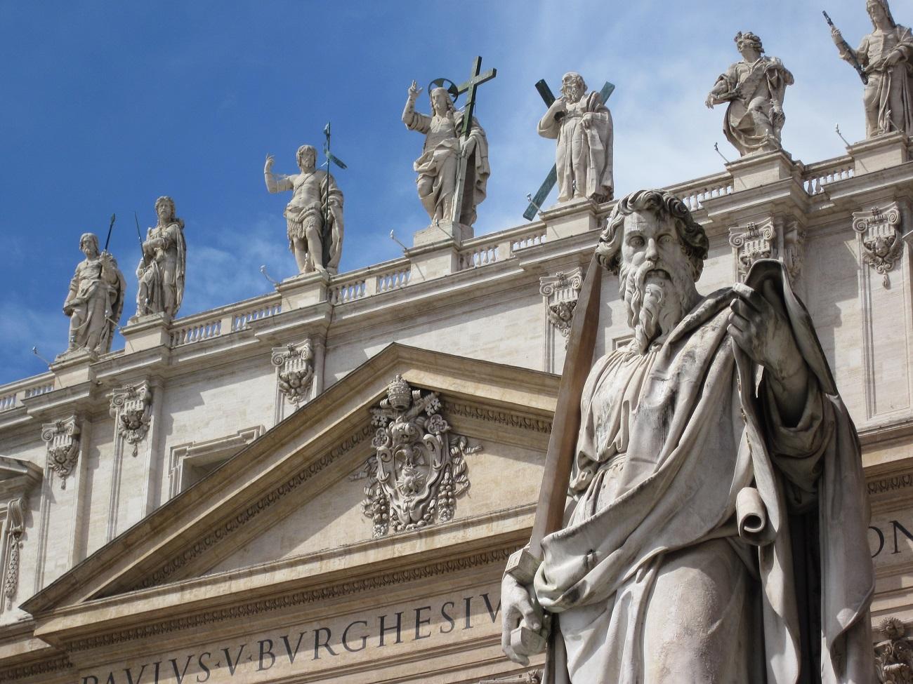 Faţada Bisericii Sfântul Petru, Vatican