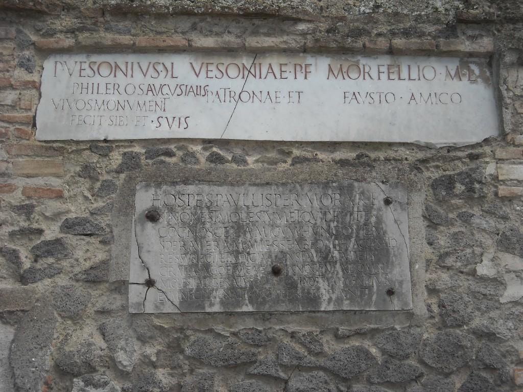 Inscripție din Pompeii