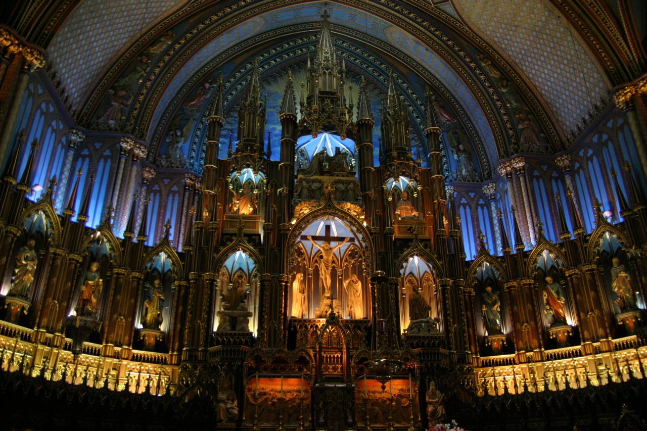 Interior din Basilica Notre Dame, Montreal