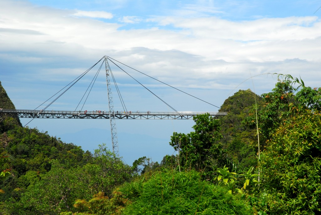 Langkawi Sky Bridge, privire de la distanta