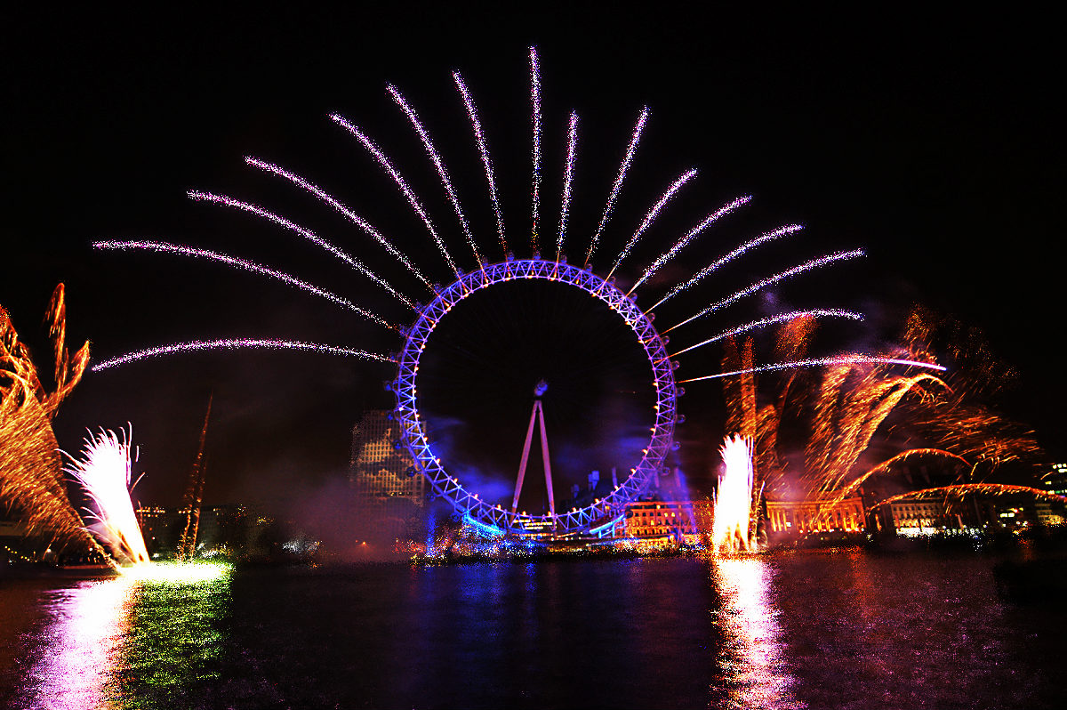 London Eye, artificii de revelion