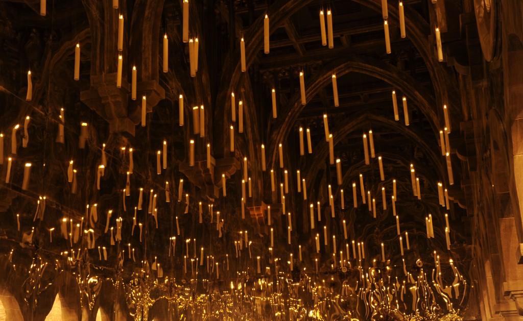 Lumânările plutitoare de la hogwarts