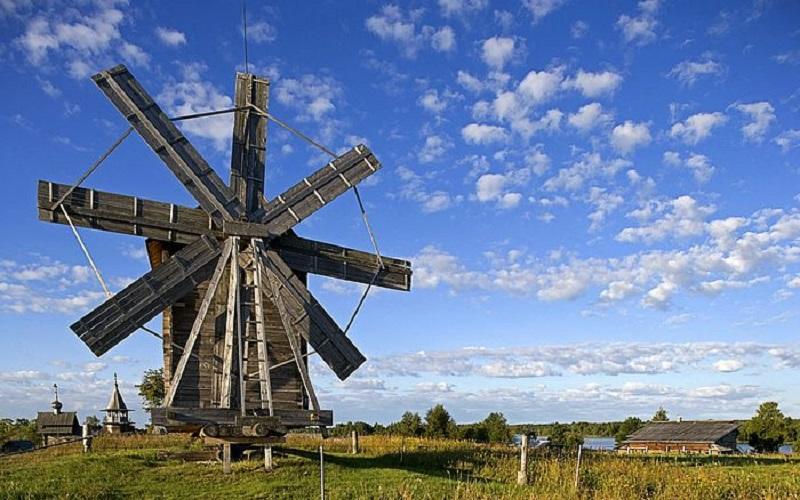Moară de vânt, Insula Kizhi, Rusia