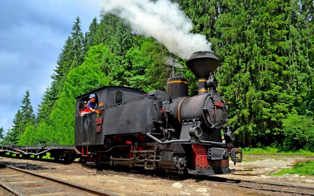 Mocănița de la Vișeul de Sus, locomotiva Măriuța la muncă