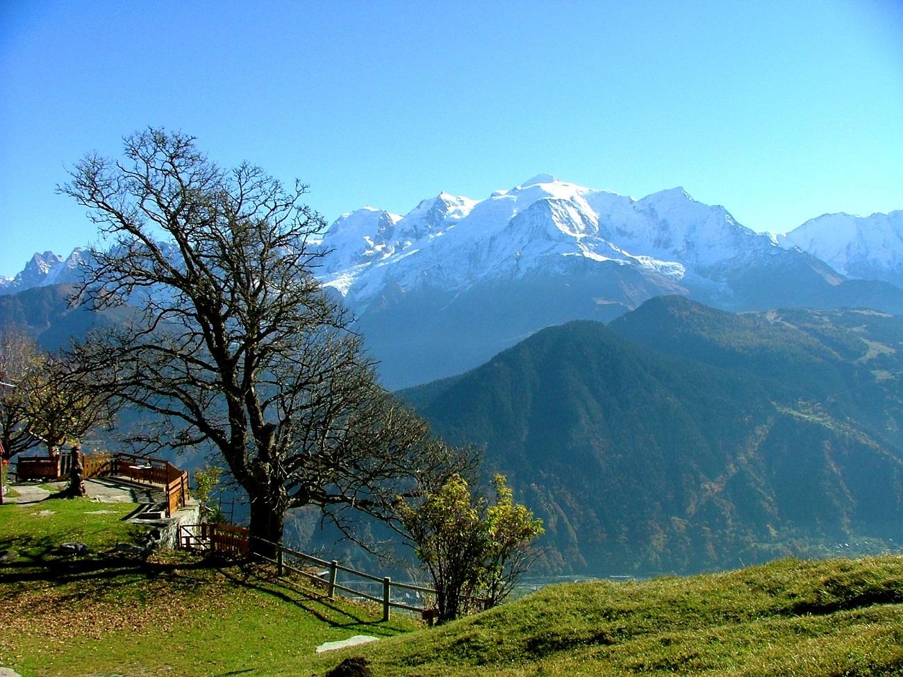 Mont Blanc în perioada verii