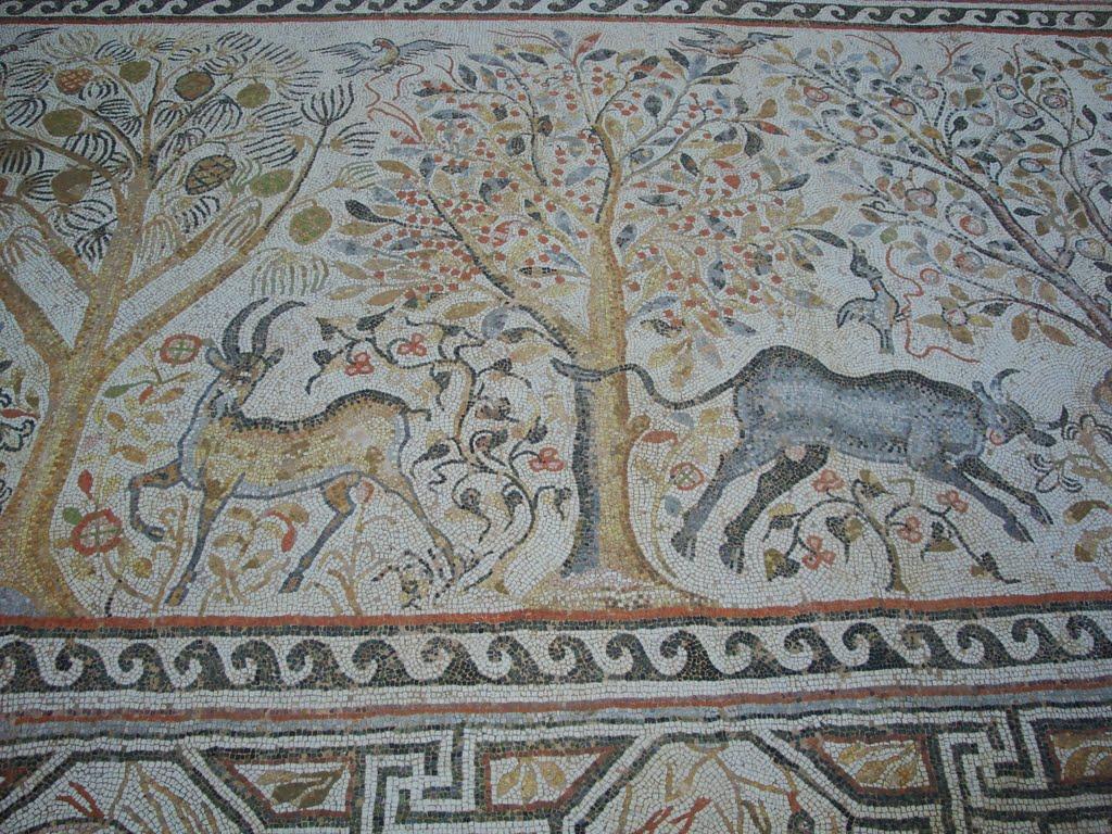 Mozaic cu scene din natură