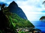 Muntele Gimie, Insula Sfânta Lucia