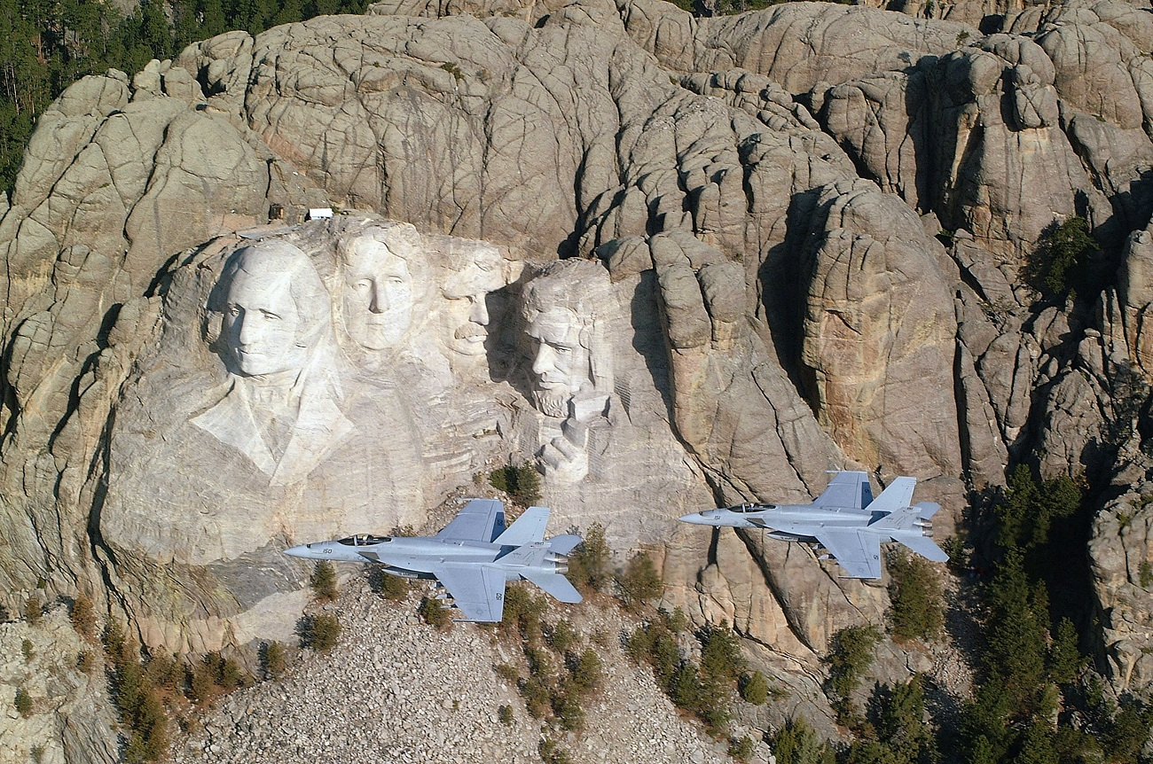 Muntele Rushmore, Dakota, SUA.