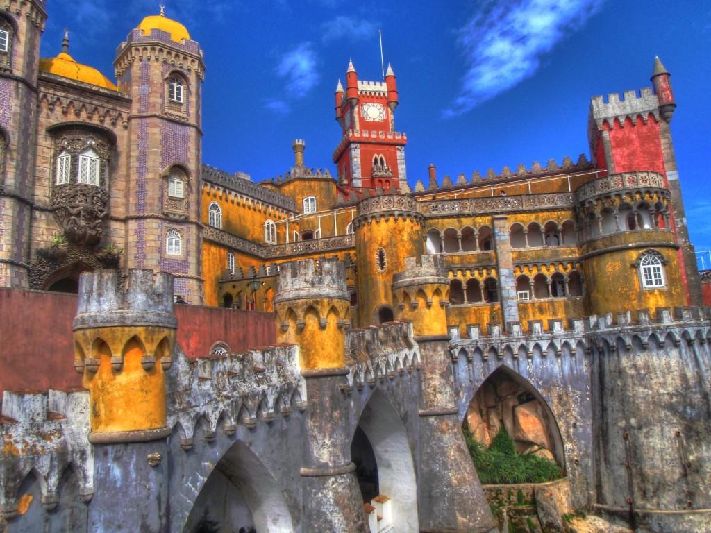 Palacia de Pena din Sintra, Portugalia