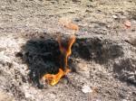 Pamantul pare sa arda cu de la sine putere