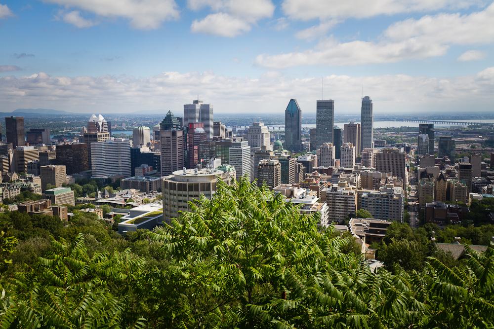 Panorama oraşului Montreal de pe Mount Royal