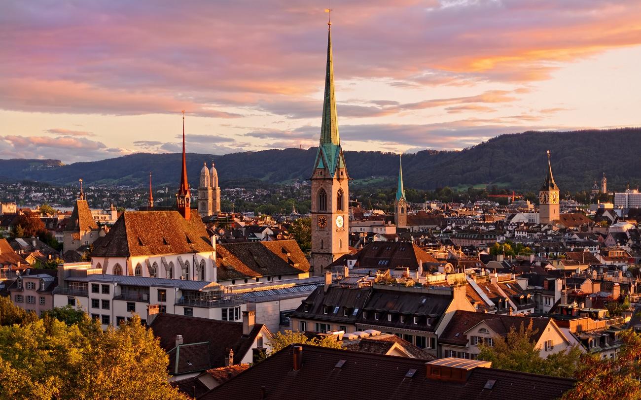 Panorama oraşului Zurich