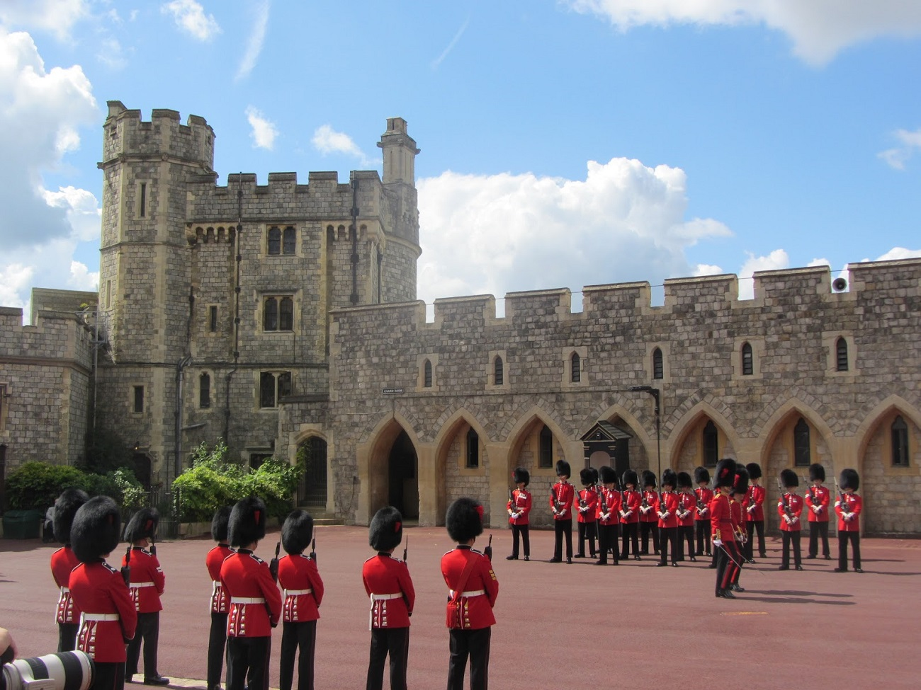 Parade specifice la Castelul Windsor din Anglia