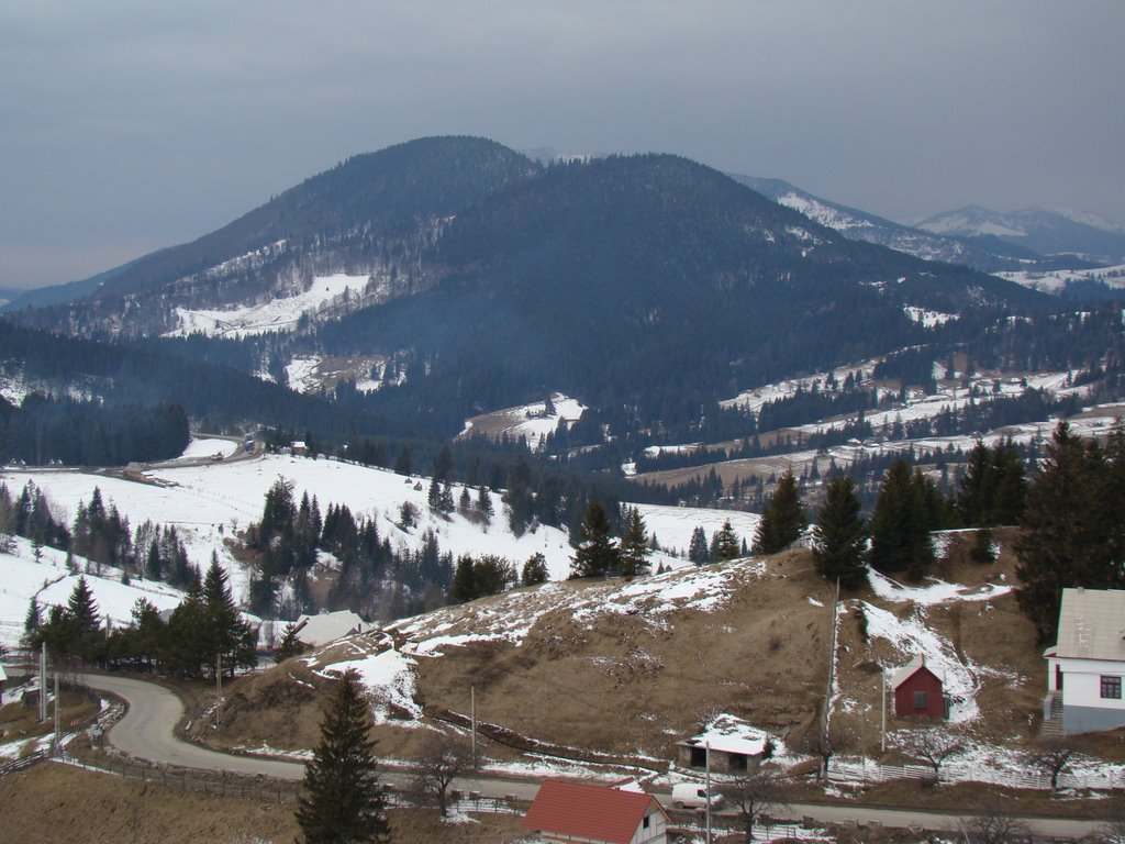 Pasul Tihuța la inceput de iarna