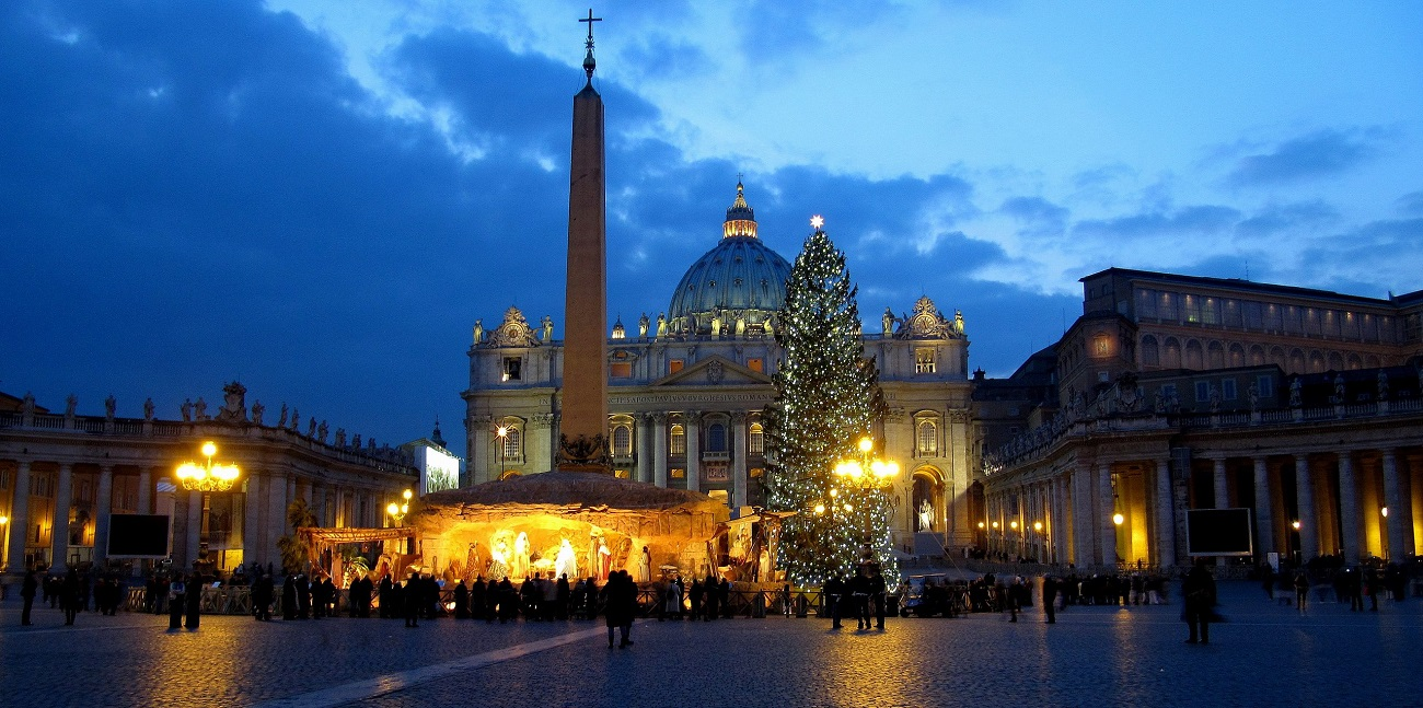 Piaţa Sfântul Petru în timpul sărbătorilor de iarnă