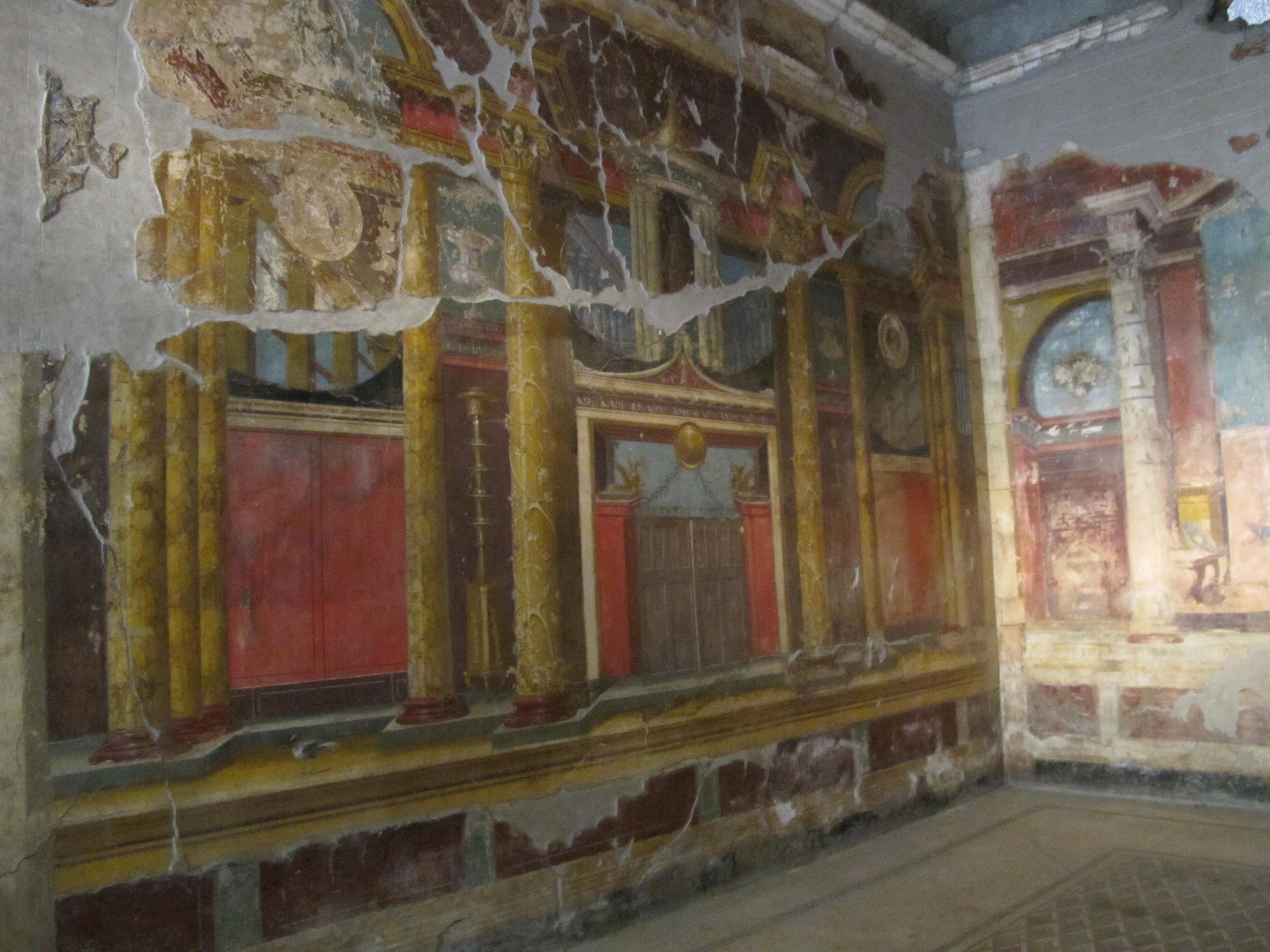 Pictură murală într-una din vilele din Pompeii