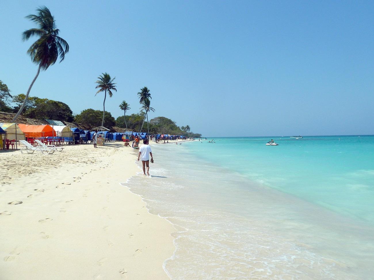 Plaja de Bocagrande, Cartagena, Columbia