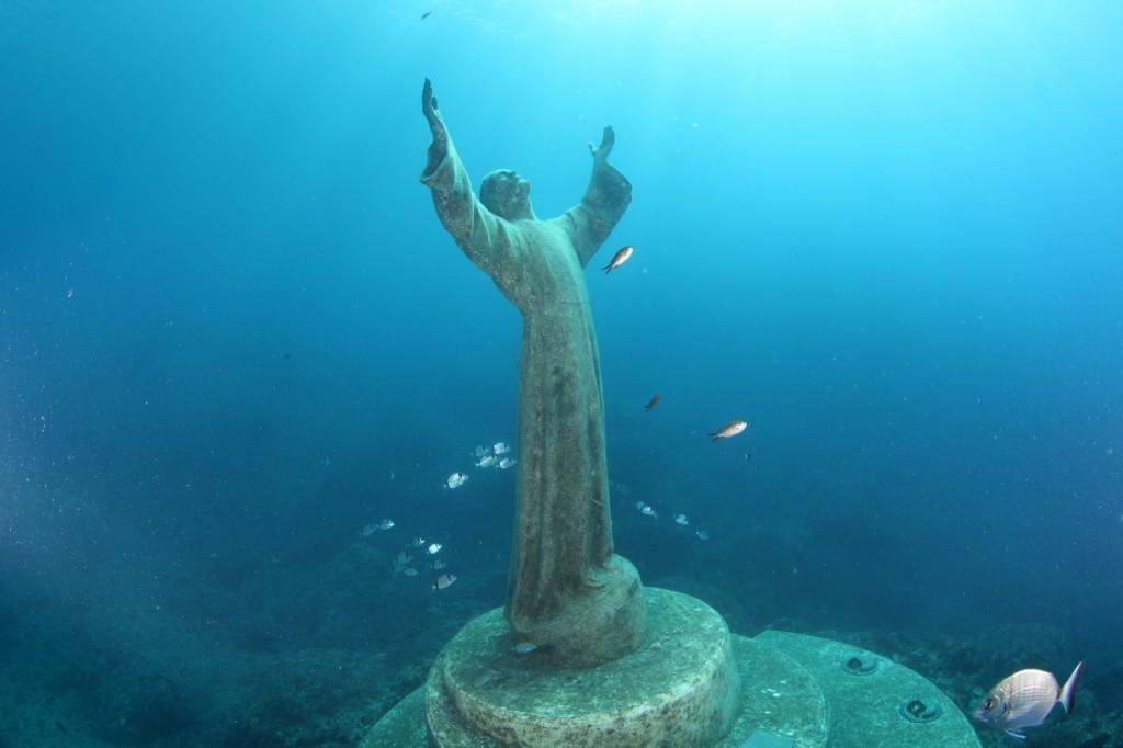 Portofino, Statuia lui Hristos din Adâncuri