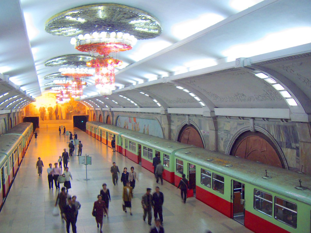 Pyongyang, imagine din metrou