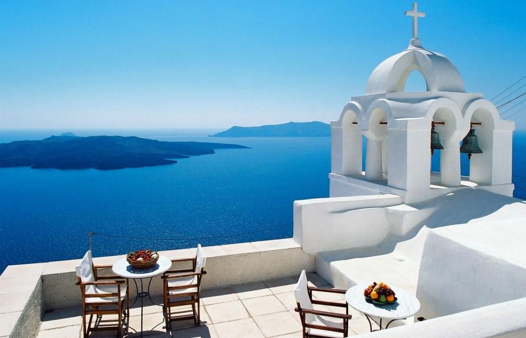 Santorini, vedere la mare