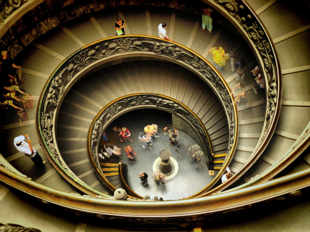 Scara spiralată din Muzeul Vatican